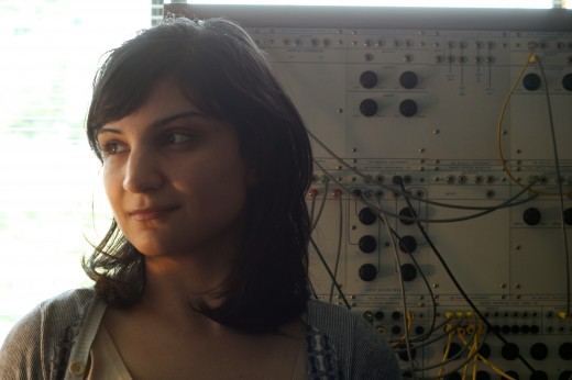 Sarah Davachi captured by Richard Smith.