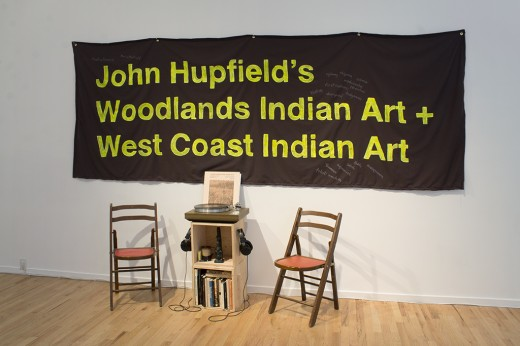 Maria Hupfield, John Hupfield's Woodlands Indian Art + West Coast Indian Art (installation view), Western Front, 2017. Photo courtesy of Maegan Hill-Carroll.