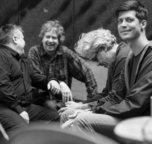L to R: Oscar Noriega, Matt Mitchell, Tim Berne, Ches Smith. Photo cred: Lynne Harty
