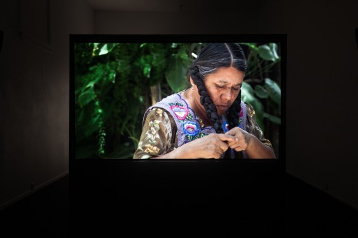 "Laura Huertas Millán, ""La Libertad"" (installation view), Western Front, 2018, digital video, 29 minutes. Photo courtesy of Dennis Ha."