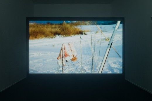 "Gabrielle L'Hirondelle Hill, Chandra Melting Tallow, Jeneen Frei Njootli, Tania Willard, ""Coney Island Baby"" (installation view), Western Front, 2018, digital video, 12 minutes. Photo courtesy of Dennis Ha."
