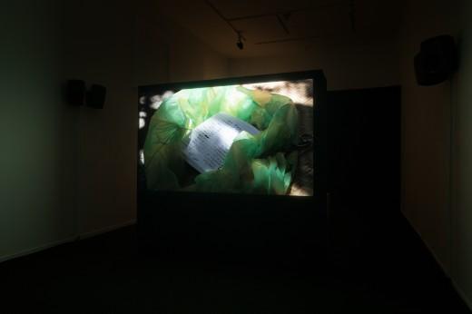 "Laura Huertas Millán, ""La Libertad"" (installation view), Western Front, 2018, digital video, 29 minutes. Photo courtesy of Dennis Ha."