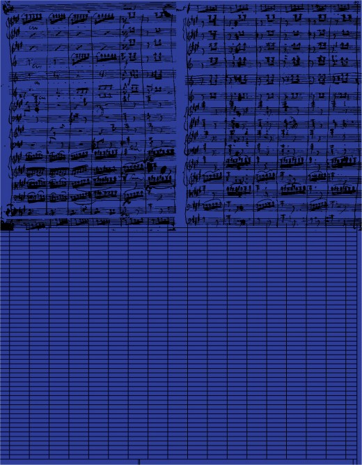 Chris Lee, research image: Symphonie Fantastique by Hector Berlioz, Microsoft Excel