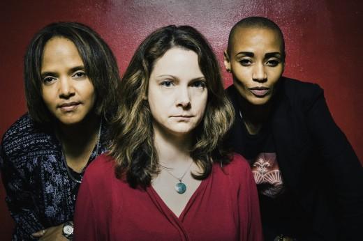 Terri Lyne Carrington, Kris Davis and Val Jeanty. Photo by Caroline Mardok. Courtesy of Kris Davis.