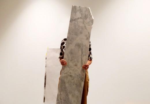 Hazel Meyer, The Marble in the Basement (performance documentation), 2019.
