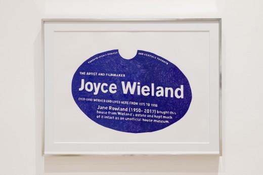 Hazel Meyer, The Weight of Inheritance, Joyce, Jane (heritage plaque), Western Front, 2020. Photo Courtesy of Dennis Ha.