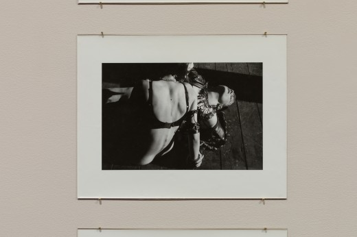 Kiss & Tell (Persimmon Blackbridge, Lizard Jones, Susan Stewart), Drawing the Line, 1990, 35.4 x 27.6cm, b/w 35mm photographs. Courtesy Simon Fraser University Library Special Collections and Rare Books, Kiss & Tell Fonds. Photo: Dennis Ha.