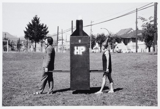 Hank Bull, HP Sedan Bottle (1974). Photo: Kate Craig.