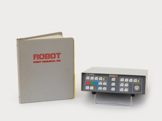 Slowscan Robot 1200c and manual. Robot Research Inc. (c. 1993). Photo: Rachel Topham Photography.